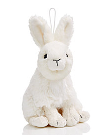 Holiday Lane White Plush Rabbit Hanging Ornament, Created for Macy's