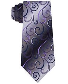 Men's Swirly Vines Silk Tie