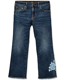 Polo Ralph Lauren Big Girls Kick-Flare Crop Jeans