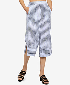 BCBGeneration Striped Cropped Pull-On Pants