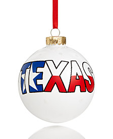 Holiday Lane Pearl White Texas Ornament, Created for Macy's