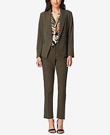 Tahari ASL Double-Breasted Blazer & Cropped Cuffed Pants, in Regular & Petite Sizes