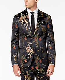 Tallia Orange Men's Midnight Dragon Slim-Fit Jacquard Suit Jacket