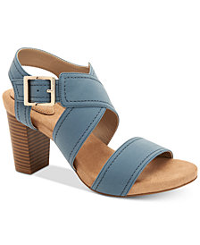 Giani Bernini Janett Memory-Foam Block-Heel Dress Sandals, Created for Macy's