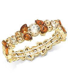 Charter Club Gold-Tone Multi-Stone Stretch Bracelet, Created for Macy's