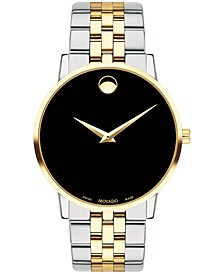 Men's Swiss Museum Classic Two-Tone PVD Stainless Steel Bracelet Watch 40mm