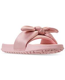 Nine West Little Girls' Bryndah Slide Sandals from Finish Line