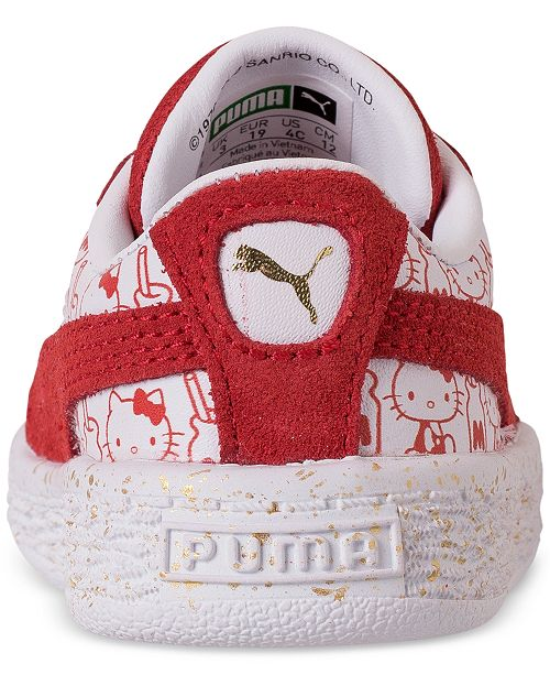920d20c3954 ... Puma Toddler Girls  HELLO KITTY Suede Classic Casual Sneakers from  Finish ...