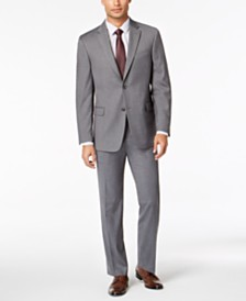 Tommy Hilfiger Men's Modern-Fit THFlex Stretch Gray Twill Suit