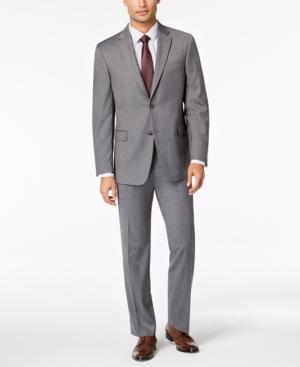 Tommy Hilfiger Men's Modern-Fit THFlex Stretch Gray Twill Suit