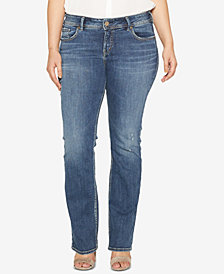 Silver Jeans Co. Plus Size Elyse Stretch Slim-Fit Boot-Cut Jeans
