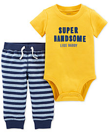 Carter's Baby Boys 2-Pc. Cotton Super Handsome Bodysuit & Pants Set
