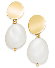 kate spade new york Gold-Tone & Imitation Pearl Drop Earrings
