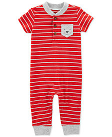 Carter's Baby Boys Striped Pocket Cotton Coverall