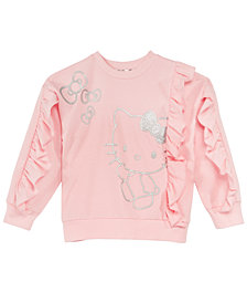 Hello Kitty Toddler Girls Ruffle Sweatshirt