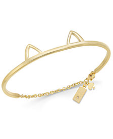 kate spade new york Gold-Tone Cat Ear Bangle Bracelet