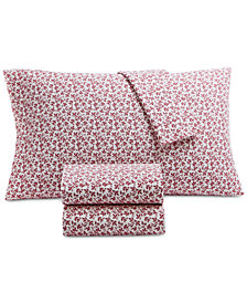 Martha Stewart Collection Printed Cotton Flannel Full Sheet Set, Created for Macy's