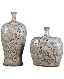 Uttermost Citrita Decorative Ceramic Vases, Set of 2