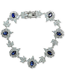 Giani Bernini Cubic Zirconia Cluster Link Bracelet in Sterling Silver, Created for Macy's