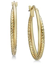 Giani Bernini Rope Twist Hoop Earrings in 18k Gold-Plated Sterling Silver, Created for Macy's