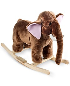 "Happy Trails Mo Mammoth Plush Rocking Animal with Sounds, 21"" x 28.5"" x 17.5"""