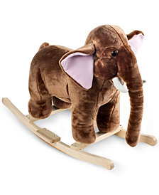 Trademark Global Happy Trails Mo Mammoth Plush Rocking Animal with Sounds