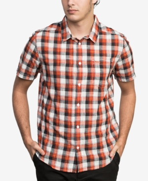 Rvca Men's Deep Plaid Shirt