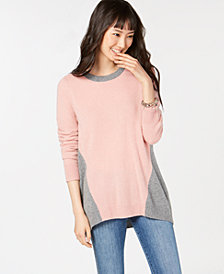 Charter Club Colorblock Pure Cashmere Sweater in Regular & Petite Sizes, Created for Macy's