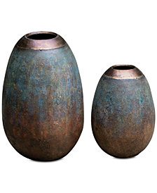 Uttermost Pavak Etruscan Sky Vases, Set of 2