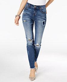 I.N.C. Rip & Repair Skinny Jeans, Created for Macy's