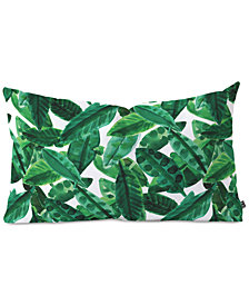 Deny Designs Amy Sia Palm Green Oblong Throw Pillow