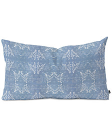 Deny Designs Caroline Okun Shibori Denim Oblong Throw Pillow