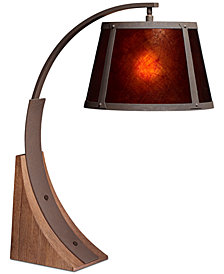 CLOSEOUT! Pacific Coast Oak River Arc Table Lamp
