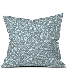Deny Designs Jenean Morrison Pale Flower Blue Throw Pillow