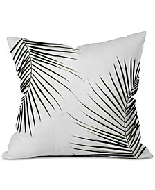 Deny Designs Mareike Boehmer Palm Leaves 9 Throw Pillow