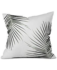 Deny Designs Mareike Boehmer Palm Leaves 9 Throw Pillow