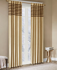"Madison Park Dune Microsuede Stripe Pair of  42"" x 84"" Window Panels"