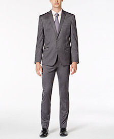 Kenneth Cole Reaction Men's Skinny-Fit Techni-Cole Stretch Solid Shine Suit