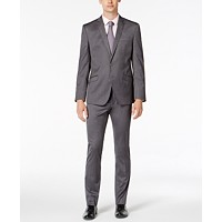 Deals on Kenneth Cole Reaction Mens Skinny-Fit Ready Solid Shine Suit