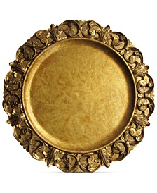 Jay Import Gold Embossed Charger Plate
