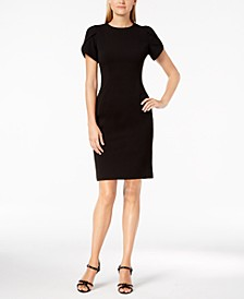 Petite Tulip-Sleeve Sheath Dress
