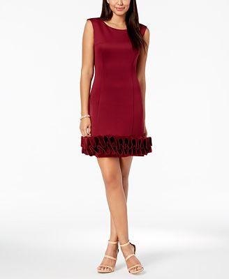 Donna Ricco Ruffle Hem Sheath Dress Dresses Women Macy S