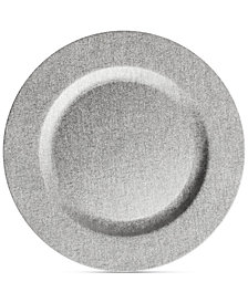 Jay Imports American Atelier Leather-Finish Platinum Charger Plate