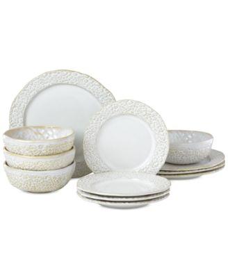 Lenox-Wainwright Boho Earth 12-Pc. Dinnerware Set, Service for 4, Created for Macy's