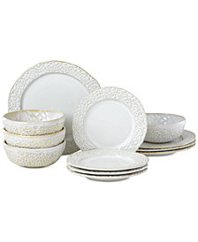 Lenox-Wainwright Boho Earth 12-Pc. Dinnerware Set, Service for 4, Created for Macy's