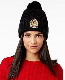 Lauren Ralph Lauren Logo-Patch Ribbed Knit Hat