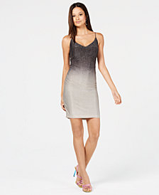 B Darlin Juniors' Metallic Ombré Dress