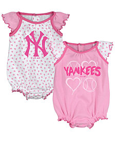 Outerstuff New York Yankees Heart Creeper Set, Infants (0-9 Months)