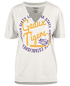 Royce Apparel Inc Women's LSU Tigers Cutout V-Neck T-Shirt