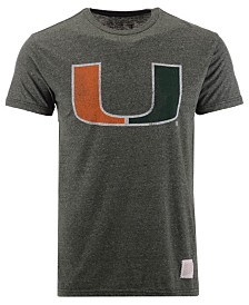 Retro Brand Men's Miami Hurricanes Mock Twist Vault Logo T-Shirt